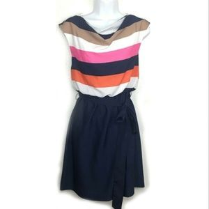 Eliza J Striped Bodice Dress Size 8  Multicolored